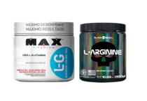 Kit L- glutamina max 300g + l- arginine black 300g - Max Titanium E Black Skull
