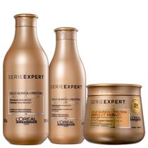 Kit L'Oréal Professionnel Serie Expert Absolut Repair Gold Quinoa + Protein Golden Trio (3 Produtos) -