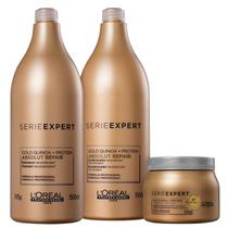 Kit L'Oréal Professionnel Serie Expert Absolut Repair Gold Quinoa + Protein Salon Trio (3 Produtos) -