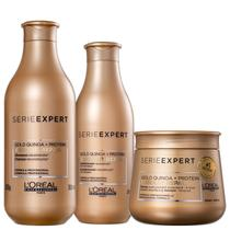 Kit L'Oréal Professionnel Serie Expert Absolut Repair Gold Quinoa + Protein Trio (3 Produtos) -