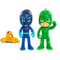 Kit Lagartixo com Luz + Ninja Noturno PJ Masks DTC -