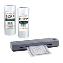 Kit Laminadora Aurora A3 + BOPP A4 + BOPP A3 Brilho Marpax 110V -
