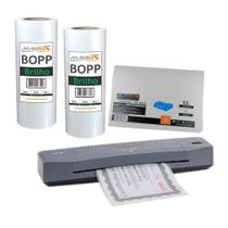 Kit Laminadora Aurora A3 + BOPP A4 + BOPP A3 Brilho Marpax 220V -