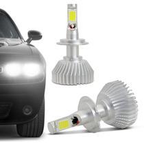 Kit Lâmpada C6 Super LED 2D Headlight H7 6000K 12V 24V 6400LM Efeito Xênon Carro Caminhão - Prime