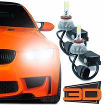 Kit Lâmpada Farol De Led 3D H27 Shocklight 9000 Lumens -