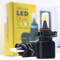 Kit Lâmpada H16 Dual Color Led 12v 25w 3150k Luz Amarela / 6000k Luz Branca 8000 Lumens Shocklight -
