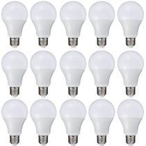 kit lampada led 12 wats luz solar 10 pçs -