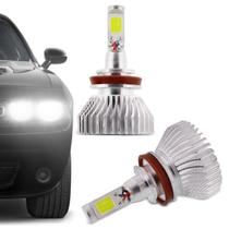Kit Lâmpada Super LED 2D H11 6000K 12V 24V 6400LM Efeito Xênon Carro e Caminhão Branco - Prime