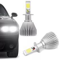 Kit Lâmpada Super LED 2D H3 6000K 12V 24V 6400LM Efeito Xênon Carro e Caminhão Branco - Prime
