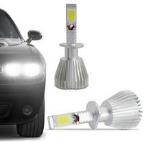 Kit Lâmpada Super LED 2D Headlight H1 6000K 12V 24V 6400LM Efeito Xênon Carro Caminhão - Prime