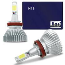 Kit Lâmpada Super LED 2D Headlight H11 6000K 12V 24V 35W 6400LM Efeito Xênon Carro Moto Caminhão - Shocklight