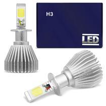 Kit Lâmpada Super LED 2D Headlight H3 6000K 12V 24V 6000LM Efeito Xênon Carro Moto e Caminhão - Shocklight