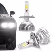 Kit Lâmpada Super LED 2D Headlight H4 6000K 12V  6400LM Efeito Xênon Carro Moto - Shocklight