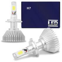 Kit Lâmpada Super LED 2D Headlight H7 6000K 12V 24V 6400LM Efeito Xênon Carro Moto Caminhão - Shocklight