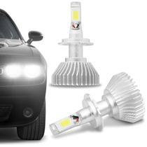 Kit Lâmpada Super LED 2D Headlight H7 6000K 12V 6400LM Efeito Xênon Carro Moto Caminhão - Shocklight