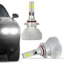 Kit Lâmpada Super LED 3D Headlight Hb4 9006 6000K 12V 24V 9000LM Efeito Xênon Carro Caminhão - Prime