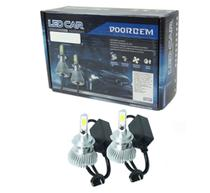 Kit Lâmpada Super Led Headlight HB4 9006 6000K DOORBEM -