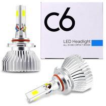 Kit Lâmpadas C6 Super LED 3D Headlight H1 H3 H4 H7 H8 H11 H16 H27 HB3 HB4 6000K Efeito Xênon HB3 - Kit Prime