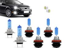 Kit Lampadas Fusion 2010 2011 2012 2013 Super Brancas Farol H7 H11 Milha H11 - Techone 8500k 12v 55w Inmetro -
