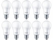 Kit Lâmpadas LED 10 Unidades Branca E27 11W  - 6500K Philips Bulbo