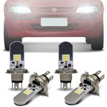 Kit Lâmpadas LED Autopoli Chevrolet Celta 2000 A 2005 H4 6500K Efeito Xênon Farol Alto e Baixo -