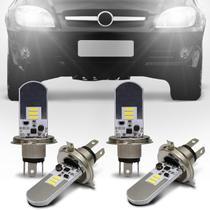 Kit Lâmpadas LED Autopoli Chevrolet Celta 2006 A 2014 H4 6500K Efeito Xênon Farol Alto e Baixo -