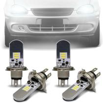Kit Lâmpadas LED Autopoli Chevrolet Classic 2002 A 2009 H4 6500K Efeito Xênon Farol Alto e Baixo -