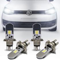 Kit Lâmpadas LED Autopoli Volkswagen Saveiro G6 2013 A 2017 H4 6500K Efeito Xênon Farol Alto e Baixo -