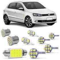 Kit Lâmpadas LED Pingo e Torpedo VW Gol Voyage Saveiro G2 G3 G4 G5 G6 Farolete Placa Teto e Ré - Kit Iluminação