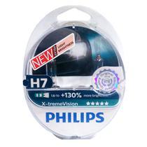 Kit Lâmpadas Philips H7 55w Xtreme Vision +130 Luz - 3500k -