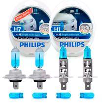 Kit Lâmpadas Philips H7 + H1 Crystal Vision Ultra 4300k -