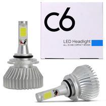Kit Lâmpadas Super LED Headlight 2D H1 H3 H4 H7 H8 H11 H16 H27 HB3 HB4 6000K Efeito Xênon H1 6000K - Kit Prime
