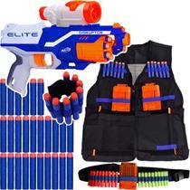 Kit Lançador Nerf Disruptor + Colete + Scope + Pulseira + Cinto + 60 Dardos Brinquedo -
