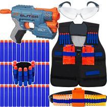 Kit Lançador Volt Nerf + Colete + Acessórios + 60 Dardos Bala -