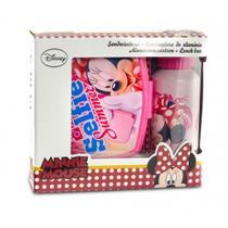 Kit Lanche Disney Lancheira + Garrafa Minnie DTC -
