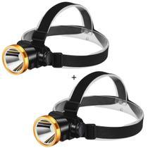 Kit Lanterna De Cabeça 2 Unidades Potente Led Recarregável - Made Basics