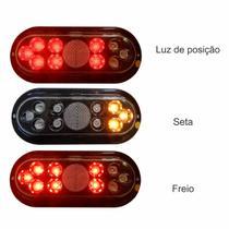 Kit Lanterna De Led + Placa Carretinha Carreta Reboque Jet-Ski 12V HOMOLOGADA - Outliers