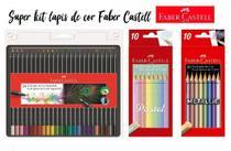 Kit Lápis De Cor Fabercastell Super Soft + Metallic + Pastel - Faber-Castell