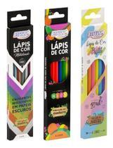 kit lapis de cor pastel neon e metálico sensacional Brw -
