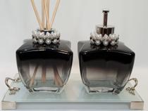 Kit Lavabo Aromatizador Difusor Saboneteira Estrela Degrade 200ml - Dbk Decor