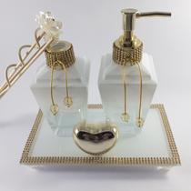 Kit lavabo diamante luxo degrade branco 250ml - Li Nature