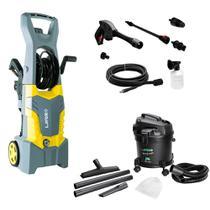 Kit Lavadora de Alta Pressão Fast Extra 135 com Aspirador de Pó e Água Lavor Wash Power Duo New -