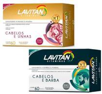 Kit Lavitan Hair Cabelos Unhas homem mulher 2x60 Oferta - Sampafarm.Store