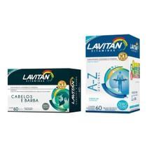Kit Lavitan Homem Vitaminas A-z Original 60 comprimidos e Lavitan Cabelos E Barba 60 capsulas -
