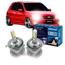 Kit LED 2D Headlight Shocklight tipo xenon Celta (todos) Prisma (todos) - farol alto e baixo H4 35W -
