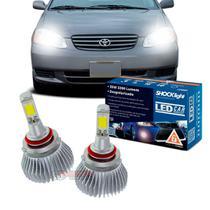 Kit LED 2D Headlight Shocklight tipo xenon Corolla 2003 2004 2005 2006 2007 - farol baixo HB4 35W -