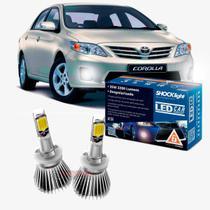 Kit LED 2D Headlight Shocklight tipo xenon Corolla 2012 2013 2014 - farol milha H27 35w -