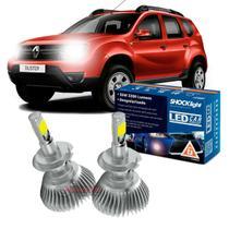 Kit LED 2D Headlight Shocklight tipo xenon Duster 2011 / 2019 - farol baixo H7 35W -