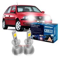 Kit LED 2D Headlight Shocklight tipo xenon Gol G3 farol duplo 2000 2001 2002 2003 2004 2005 - farol alto H1 35W -