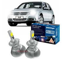 Kit LED 2D Headlight Shocklight tipo xenon Golf 2007 2008 2009 2010 2011 2012 2013 - farol baixo H7 35W -